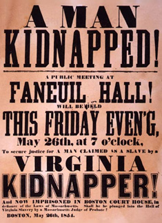 A handbill for a meeting to rescue an enslaved person from a kidnapper