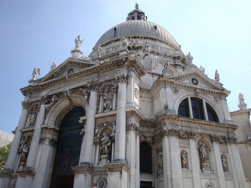 The Church of Santa Maria della Salute, by Baldessare Longhena and begun in 1630.  Photo by Matthew Brennan.