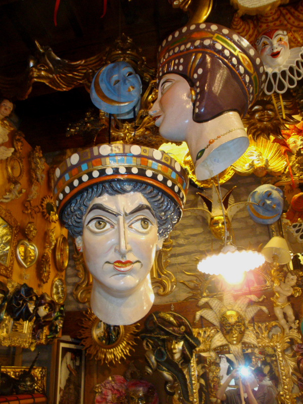 A mask of the Byzantine Emporer Justinian I.  Photo by Matthew Brennan.