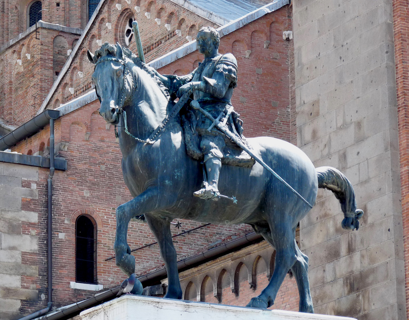Donatello's 1444-1453 Gattamelata (bronze equestrian portrait of Erasmo da Narni). Photo by Dr. Patrick Corrigan