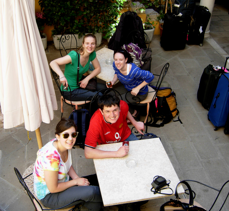 Students at the Hotel Locanda La Corte.  Photo by Dr. Beall-Fofana