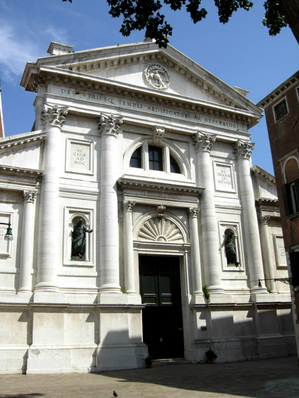 Church of San Francesco della Vigna (designed by Andrea Palladio and finished by Jacopo Sansovino). The church was begun in 1534 and the faade in 1568. Inside the church was Giovanni Bellinis Virgin and Child with Saints, c. 1507. Photos by Dr. Beall-Fofana