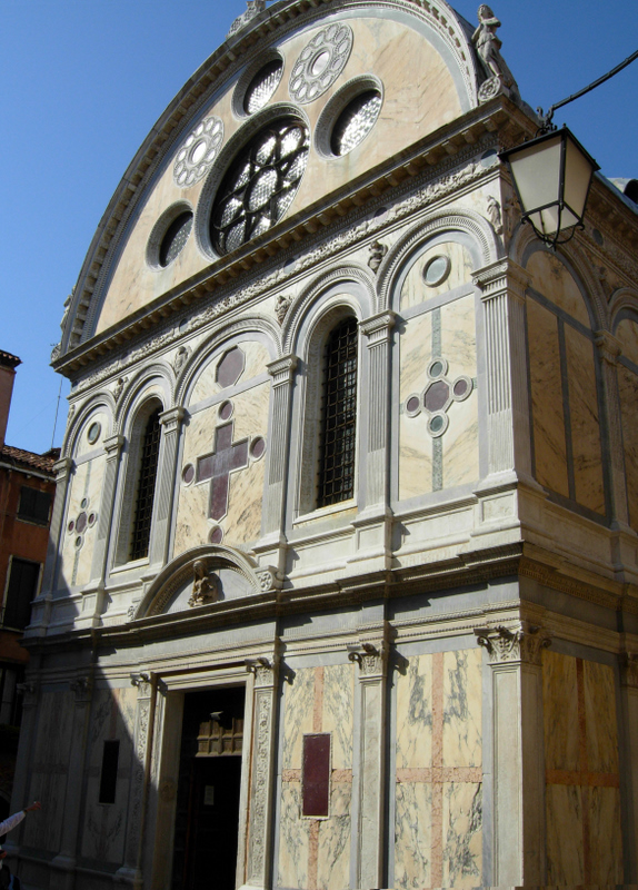 The Church of San Zaccaria (built by Antonio Gambello and Mauro Codussi between 1444 and 1515) and the Church of Santa Maria dei Miracoli (built by Pietro Lombardo from 1481-1489. Photos by Dr. Beall-Fofana