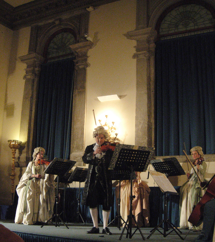 Students attending Vivaldi's Four Seasons held at the Scuola Grande di San Teodoro. Photos by Dr. Beall-Fofana