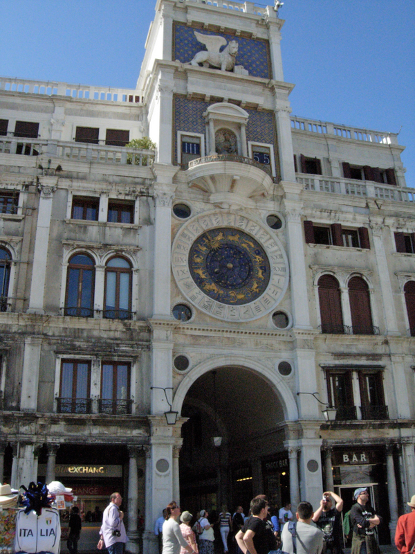 The Torre dellOrologio (St. Marks Clock Tower) in St. Marks Square, was installed by Gian Paolo and Gian Carlo Rainiere between 1496 and 1499. Photos by Dr. Beall-Fofana