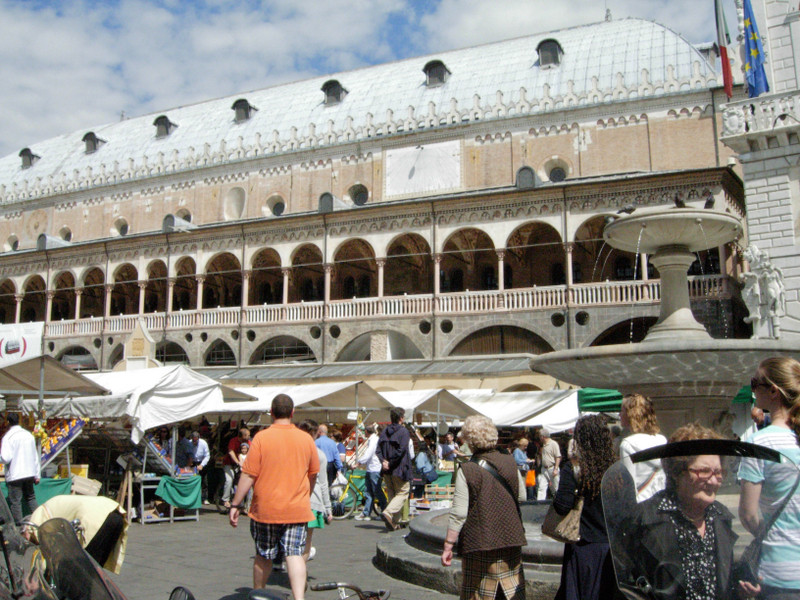 An open market in Padua. Photo by Dr. Beall-Fofana