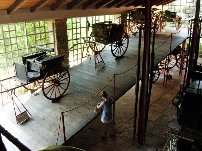 Antique carriages at the Villa Barbaro.  Photo by Dr. Beall-Fofana.