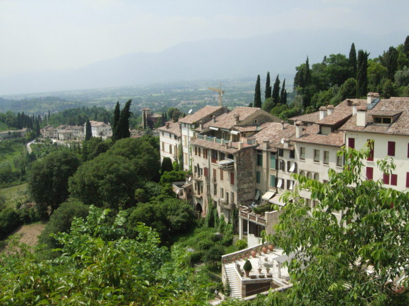 The view of the Asolo countryside during lunch at the Hotel VIlla Cipriani.  Photo by Dr. Beall-Fofana.