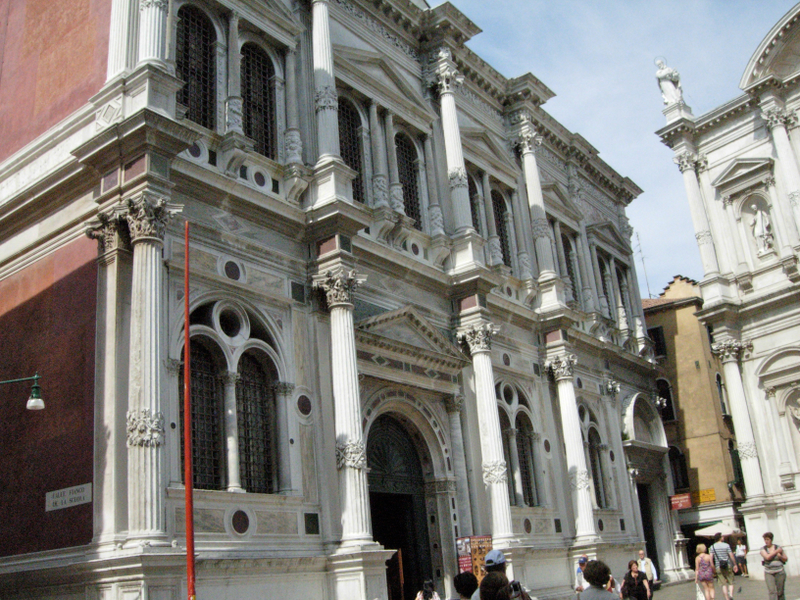 The Scuola Grade di San Rocco, by Antonio Scarpagnino from 1505-1549.  Photo by Dr. Beall-Fofana.