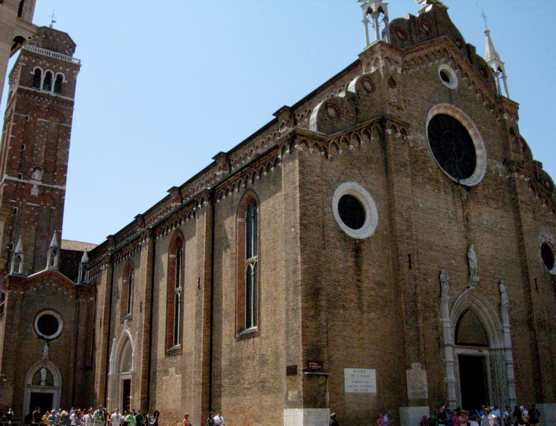 Santa Maria Gloriosa dei Frari, built between 1250 and 1338. Photo by Dr. Beall-Fofana.