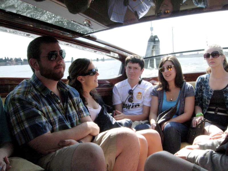 The water taxi trip to Murano. Photo by Dr. Beall-Fofana.