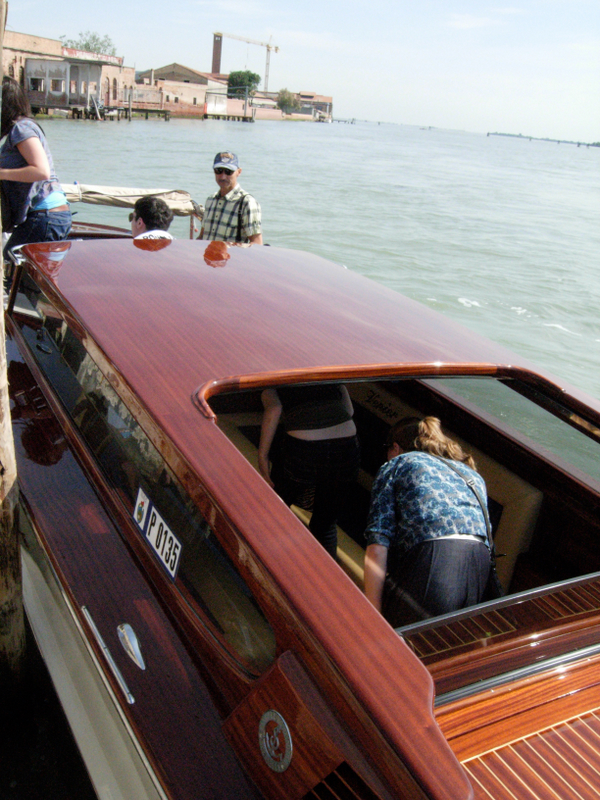 The water taxi trip to Murano. Photo by Matthew Brennan.