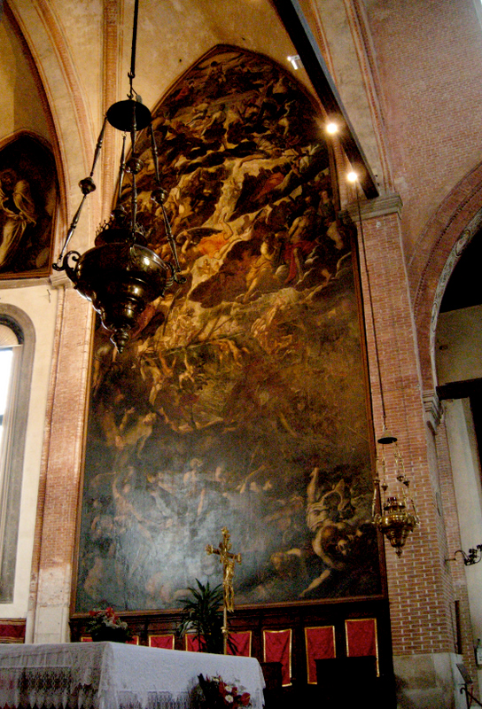 Tintoretto&#039;s The Last Judgment, inside the Church of Madonna dell&#039;Orto.  Photo by Dr. Beall-Fofana