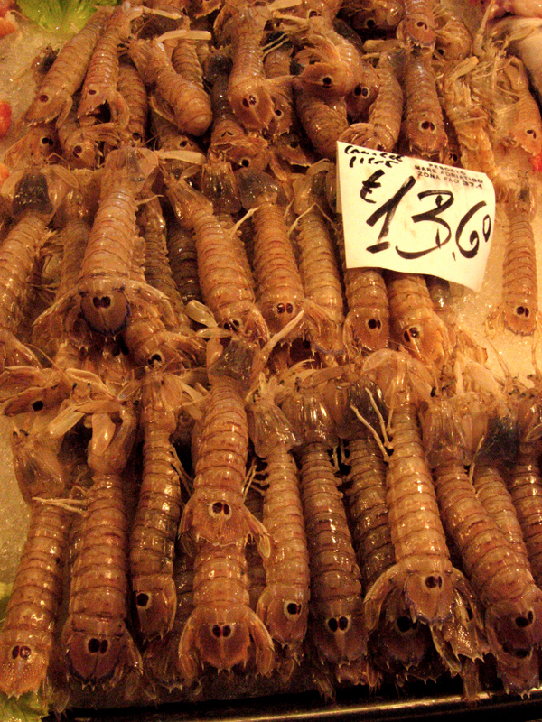 Details of fish on sale at the Rialto seafood market.  Photo by Dr. Beall-Fofana.