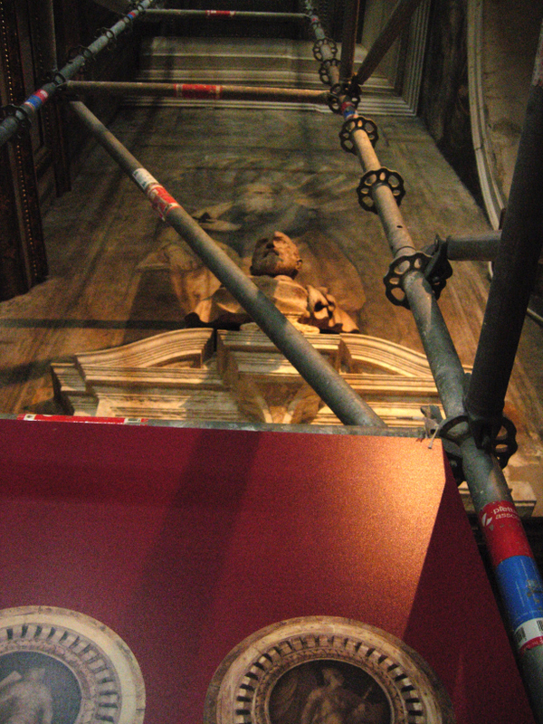 Scaffolding (A common Venetian sight).  Photo by Dr. Beall-Fofana.